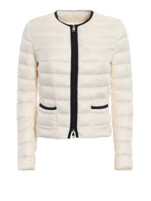 Moncler: padded jackets - Cristal white light padded jacket