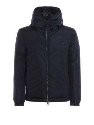 MONCLER: giacche imbottite - Piumino blu scuro Montvernier con cappuccio