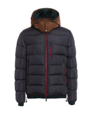 Moncler: padded jackets - Gres contrasting hood padded jacket