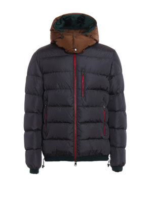 Moncler: padded jackets - Gres contrasting hood padded jacket