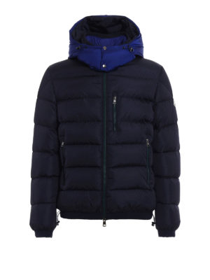 Moncler: padded jackets - Gres quilted padded blue jacket