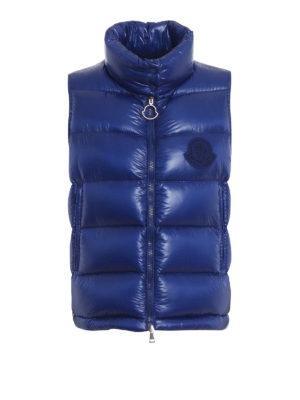 MONCLER: padded jackets - Helsinki blue padded vest