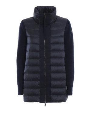 MONCLER: giacche imbottite - Piumino in nylon con maniche lunghe in lana