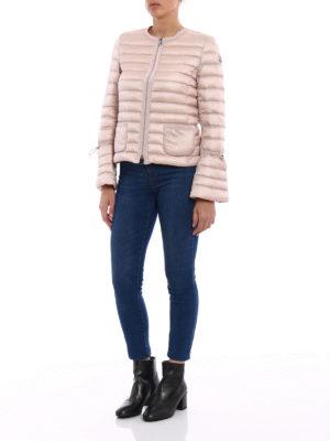 Moncler: padded jackets online - Almandin bon ton light pink jacket