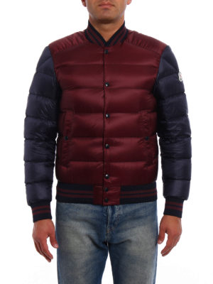 Moncler: padded jackets online - Bradford two-tone bomber jacket