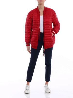 Moncler: padded jackets online - Charoite padded bomber jacket