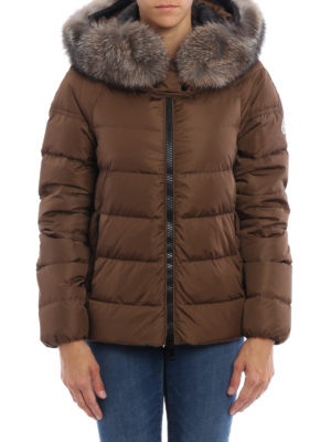 Moncler: padded jackets online - Chitalpa fur trimmed down jacket