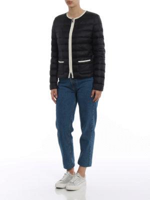 Moncler: padded jackets online - Cristal black light down jacket