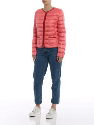 Moncler: padded jackets online - Cristal pink light down jacket