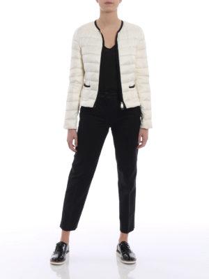 Moncler: padded jackets online - Cristal white light padded jacket