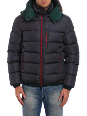 Moncler: padded jackets online - Gres contrasting hood padded jacket