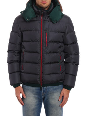 Moncler: padded jackets online - Gres contrasting hood padded jacket