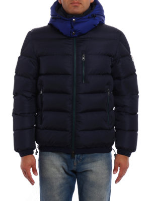 Moncler: padded jackets online - Gres quilted padded blue jacket