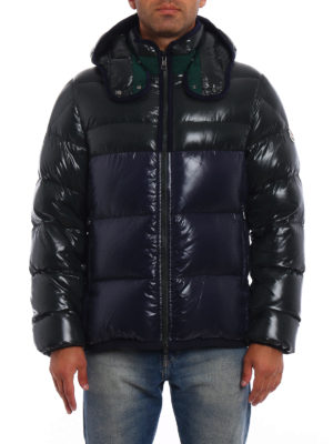 Moncler: padded jackets online - Harry two-tone puffer jacket