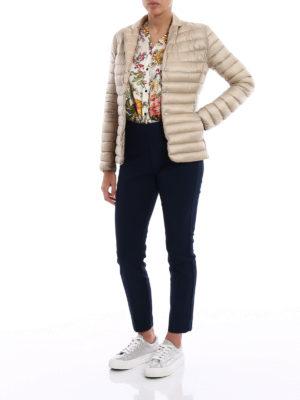 Moncler: padded jackets online - Opale light beige puffer jacket