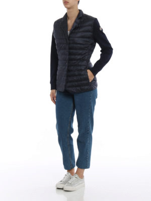 Moncler: padded jackets online - Padded front cotton blazer