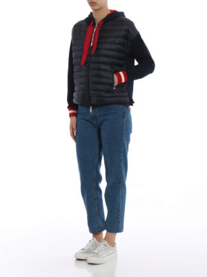 Moncler: padded jackets online - Padded front cotton hooded jacket