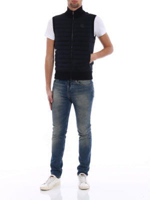 Moncler: padded jackets online - Padded front cotton jersey vest