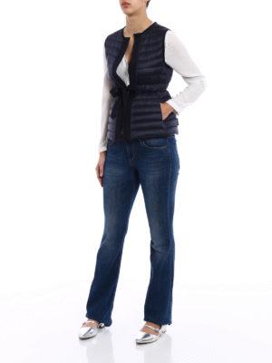 Moncler: padded jackets online - Peridot sleeveless puffer jacket
