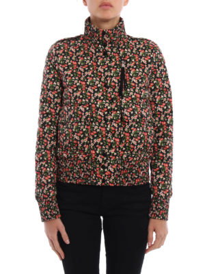 Moncler: padded jackets online - Silene floral padded jacket