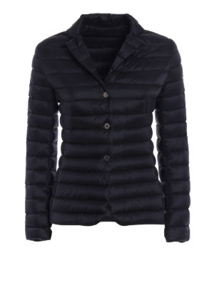 Moncler: padded jackets - Opale black puffer jacket