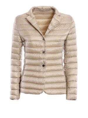 Moncler: padded jackets - Opale light beige puffer jacket