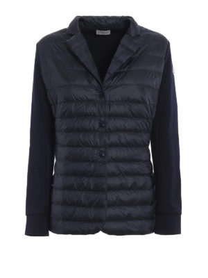 Moncler: padded jackets - Padded front cotton blazer