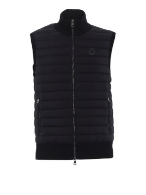 Moncler: padded jackets - Padded front cotton jersey gilet
