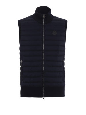 Moncler: padded jackets - Padded front cotton jersey vest