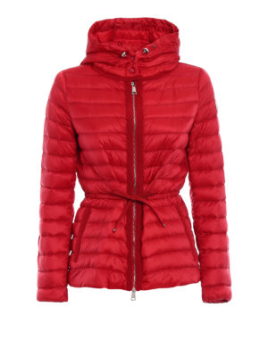 Moncler: padded jackets - Raie ultralight padded red jacket