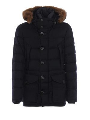 MONCLER: giacche imbottite - Giaccone imbottito Rethe in lana