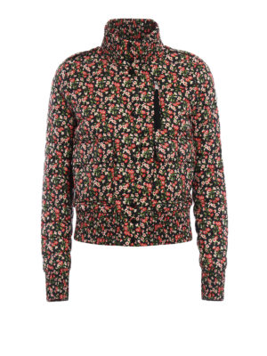 Moncler: padded jackets - Silene floral padded jacket