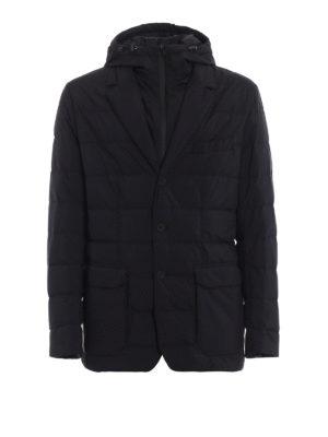 MONCLER: giacche imbottite - Blazer nero Vernoux con cappuccio fisso