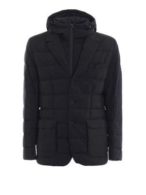 MONCLER: giacche imbottite - Blazer trapuntato Vernoux con cappuccio fisso