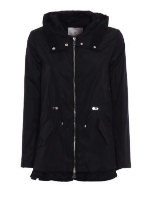 Moncler: parkas - Lotus lightweight short black parka