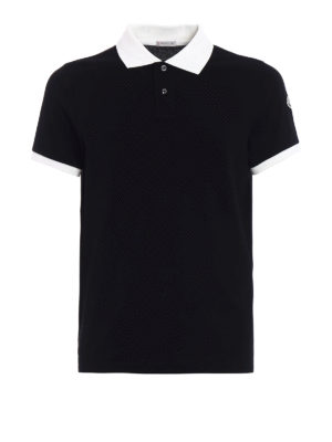 Moncler: polo shirts - Black and white polo shirt