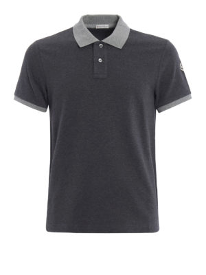Moncler: polo shirts - Contrasting collar and cuffs polo