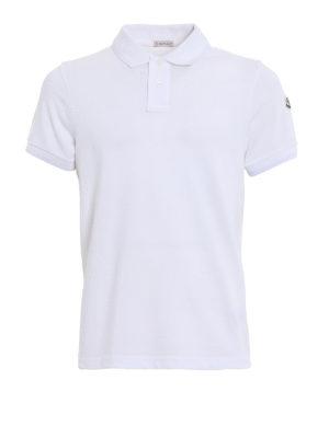 Moncler: polo shirts - Double collar cotton polo shirt