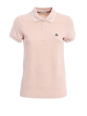 Moncler: polo shirts - Light pink polo shirt