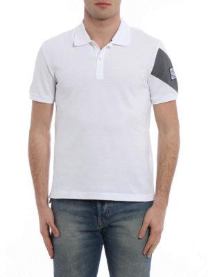 Moncler: polo shirts online - Cotton pique polo shirt
