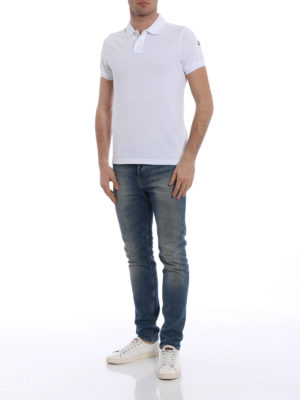 Moncler: polo shirts online - Double collar cotton polo shirt