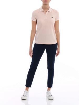 Moncler: polo shirts online - Light pink polo shirt