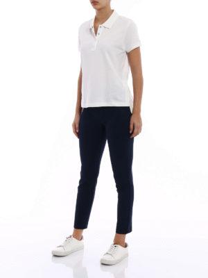 Moncler: polo shirts online - White pique polo shirt