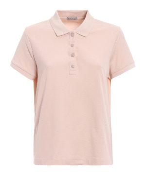 Moncler: polo shirts - Pique polo shirt with vents