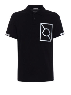 Moncler: polo shirts - Reflective bands polo shirt