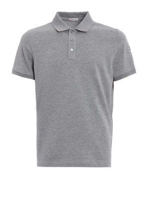 Moncler: polo shirts - Solid grey polo shirt