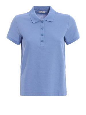 Moncler: polo shirts - Vents detailed cotton polo shirt