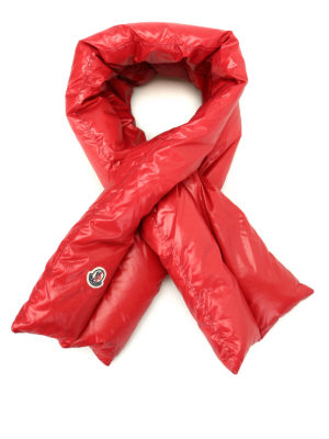 Moncler: scarves - Mulberry nylon padded scarf
