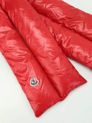 Moncler: scarves online - Mulberry nylon padded scarf