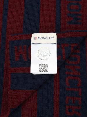 Moncler: scarves online - Striped virgin wool long scarf